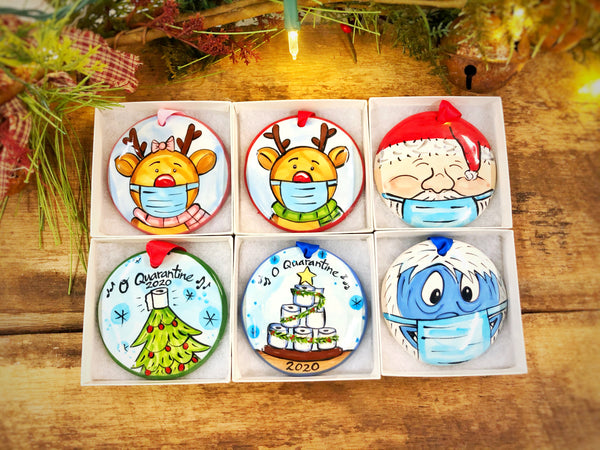 The Nola Watkins Collection™ Covid-19 (Pick Your Ornament Package 6 Ornaments)-Customized Funny 2020 Quarantine Christmas Ornaments - The Nola Watkins Collection