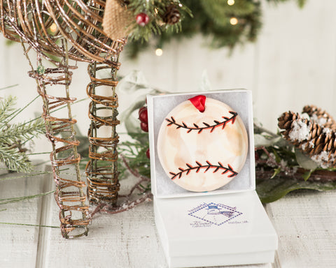 Baseball Handpainted Ornament - nolawatkins.com