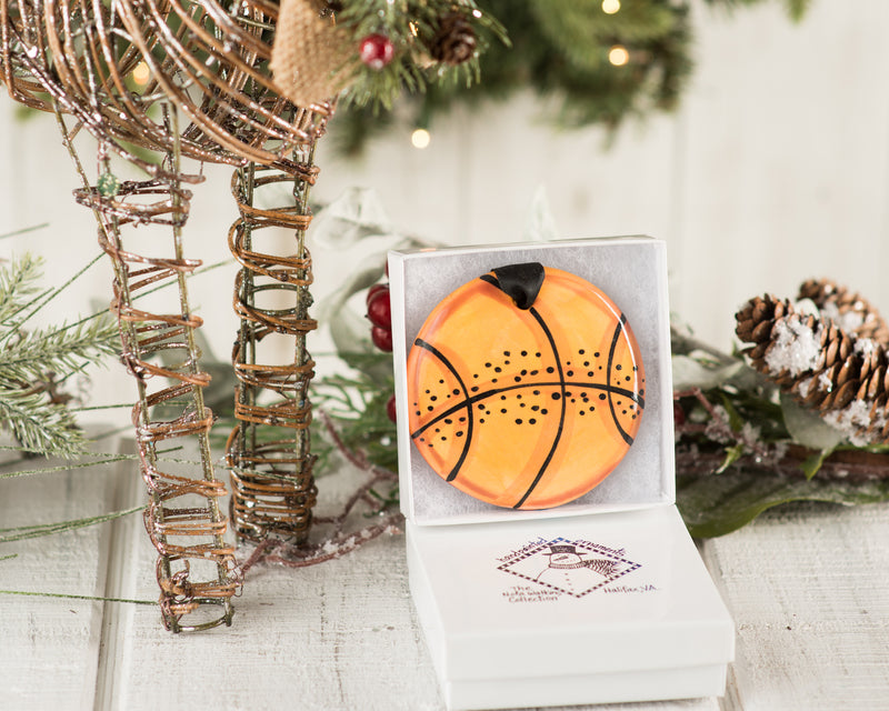 Basketball Handpainted Ornament - nolawatkins.com