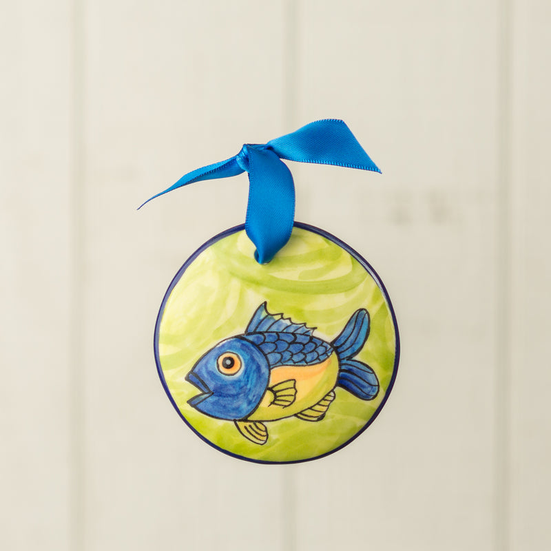 Bluefish Handpainted Personalized Ornament - nolawatkins.com