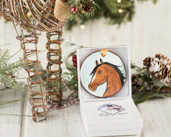 Brown Horse Handpainted Ornament - nolawatkins.com