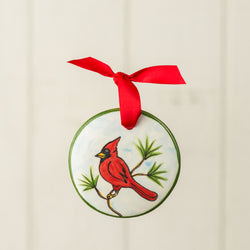 Cardinal Handpainted Personalized Ornament - nolawatkins.com