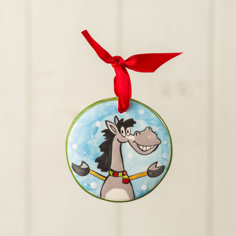 Christmas Horse Handpainted Personalized Ornament - nolawatkins.com