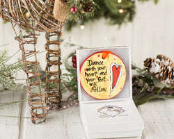 Dance With Your Heart Handpainted Ornament - nolawatkins.com