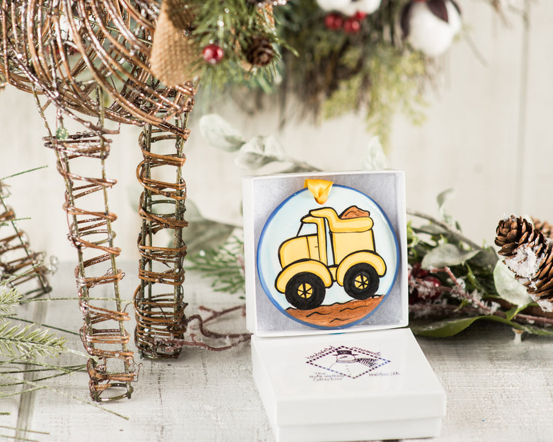 Dumptruck Handpainted Personalized Ornament - nolawatkins.com