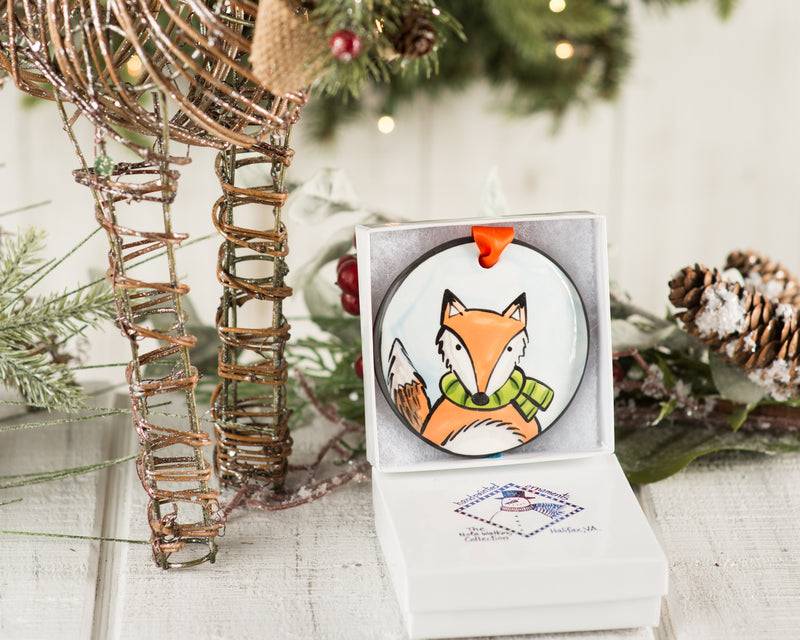 Fox Handpainted Ornament - nolawatkins.com