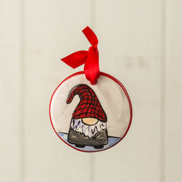Gnome Black Handpainted Personalized Ornament - nolawatkins.com