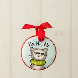 Ho Ho No Handpainted Personalized Ornament - nolawatkins.com