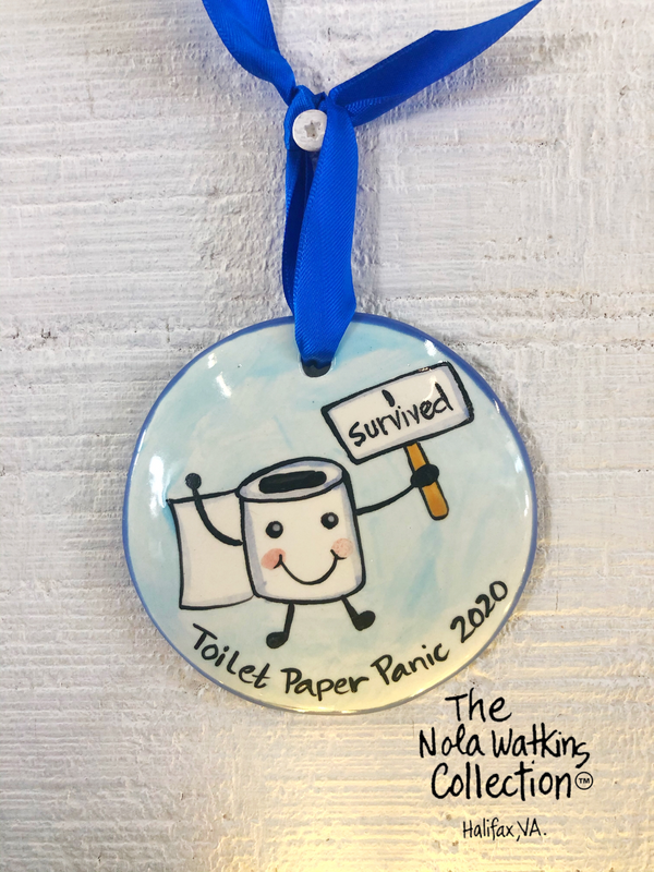 I Survived The Great Toilet Paper Handpainted Personalized Ornament - nolawatkins.com