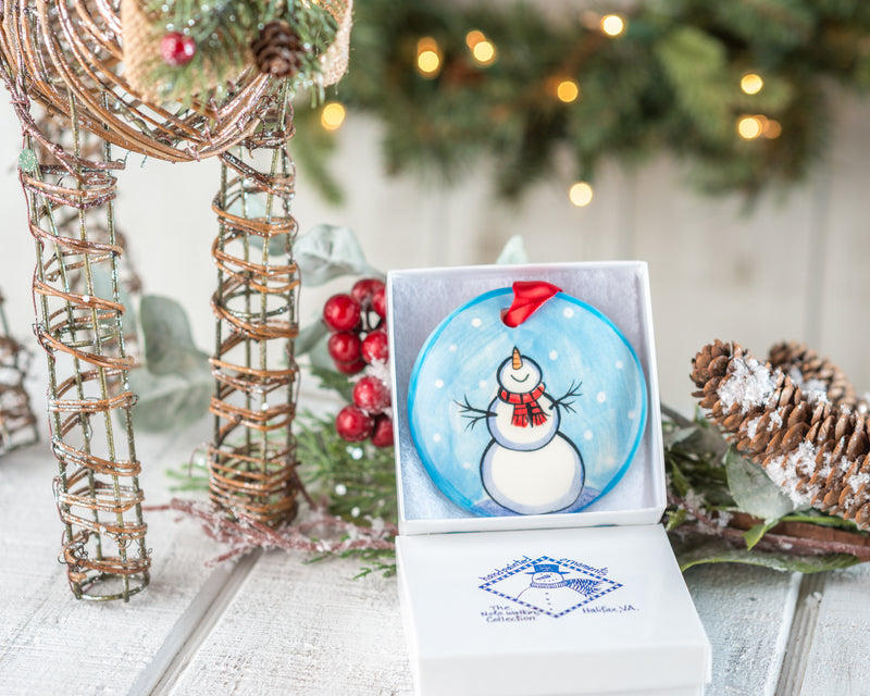 Let It Snow Handpainted Personalized Ornament - nolawatkins.com