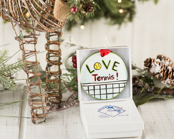 Tennis Handpainted Ornament - nolawatkins.com