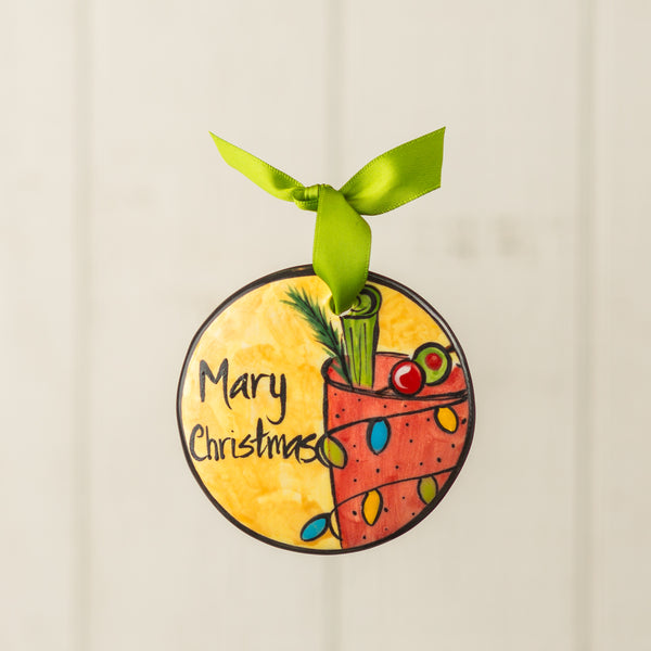 Mary Christmas Handpainted Personalized Ornament - nolawatkins.com