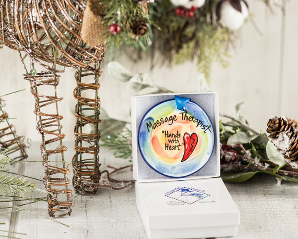 Massage Therapist Handpainted Ornament - nolawatkins.com