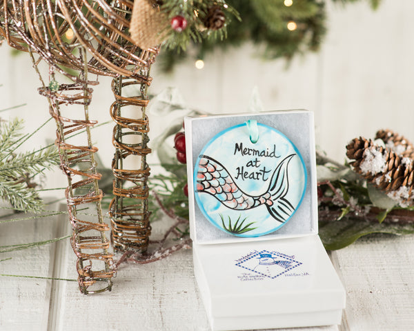 Mermaid at Heart Handpainted Ornament - nolawatkins.com