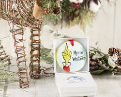 Merry Whatever Handpainted Christmas Ornament - nolawatkins.com