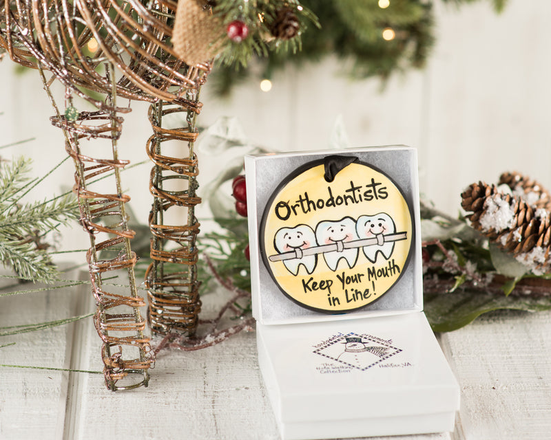 Orthodontist Handpainted Ornament - nolawatkins.com