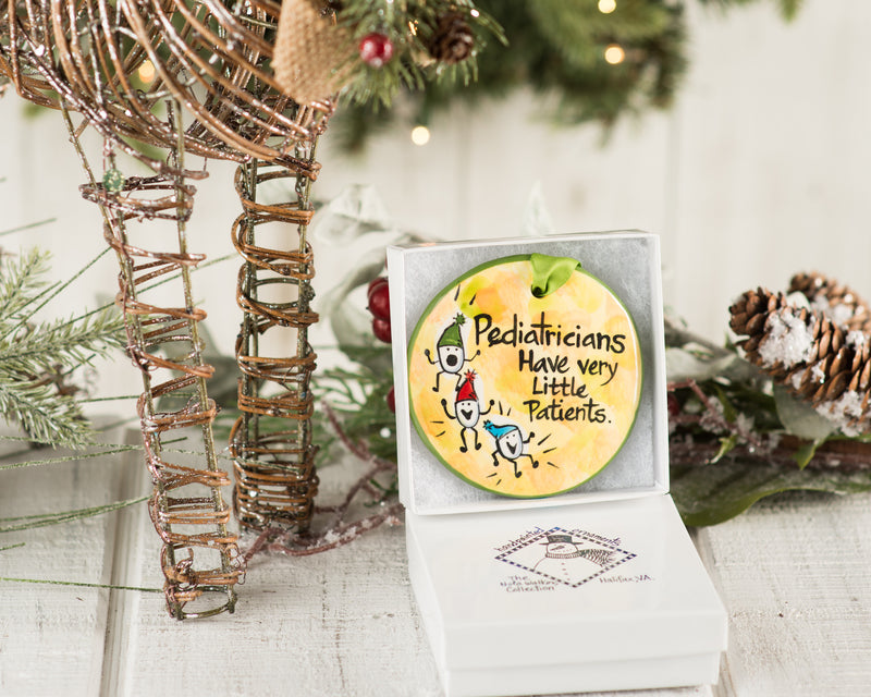 Pediatrician Handpainted Ornament - nolawatkins.com