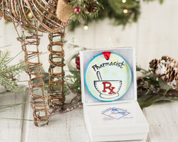 Pharmacist Ornament Handpainted Ornament - nolawatkins.com