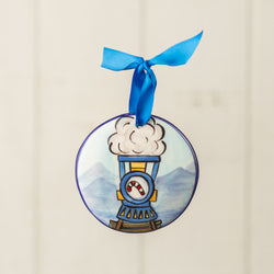 Polar Express Train Blue Handpainted Personalized Ornament - nolawatkins.com