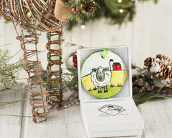 Sheep Handpainted Ornament - nolawatkins.com