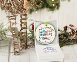 "Expecting Handpainted Ornament ""We're Expecting"" - nolawatkins.com"