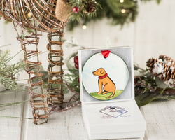 Yellow Lab Handpainted Ornament - nolawatkins.com