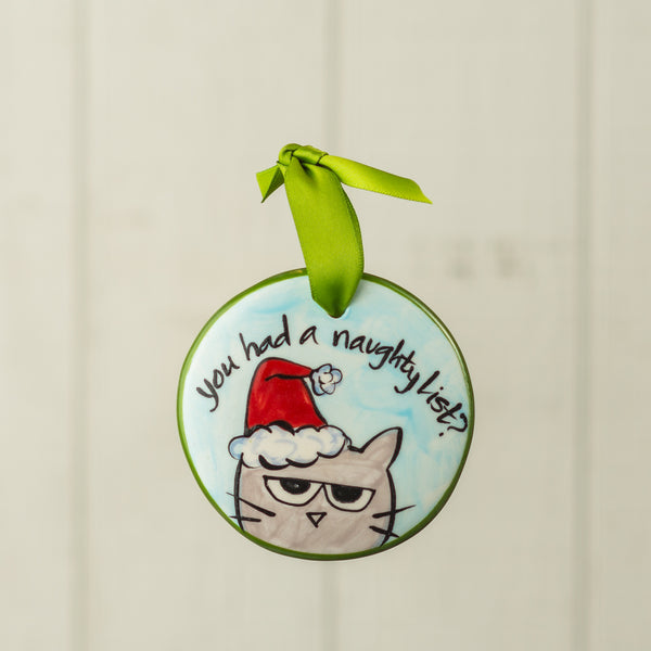 You Had a Naughty List Handpainted Personalized Ornament - nolawatkins.com