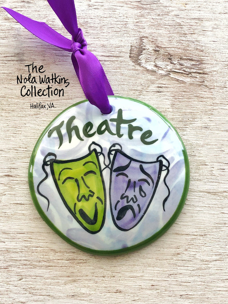 Theatre Handpainted Ornament - nolawatkins.com