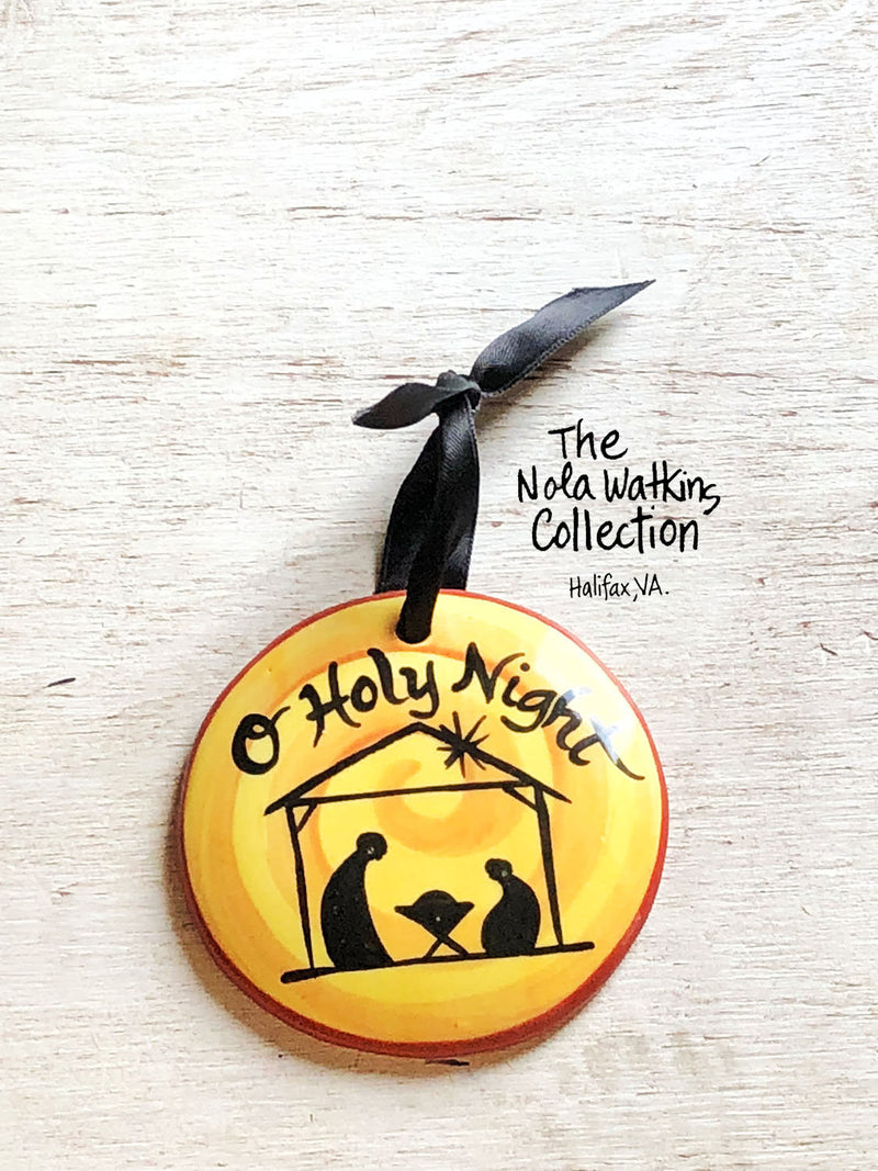 O Holy Night Handpainted Ornament - nolawatkins.com
