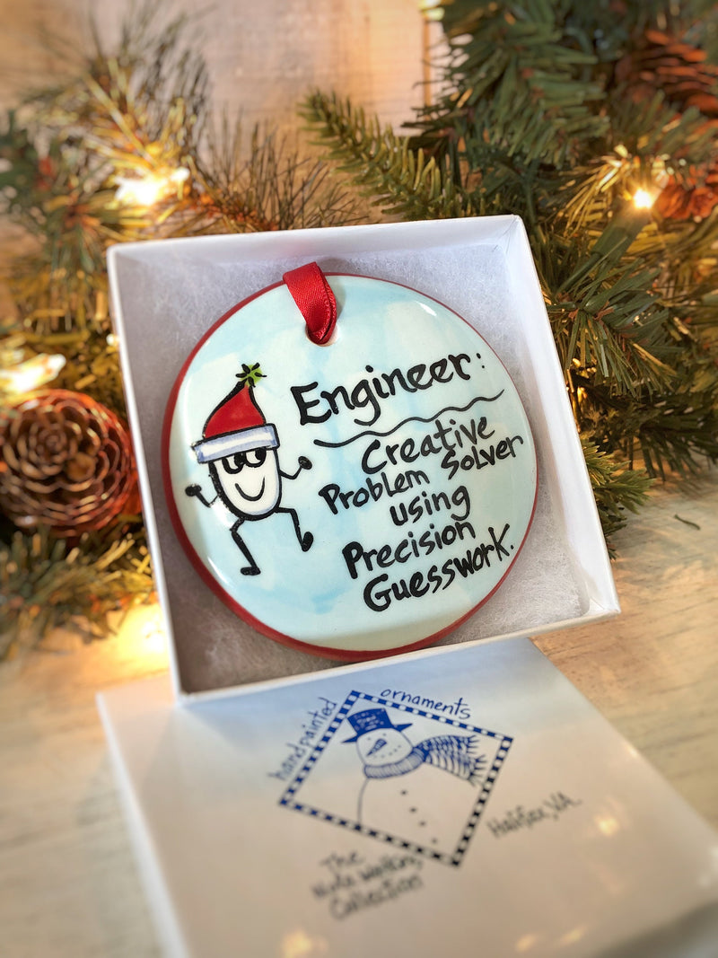 Engineer Handpainted Ornament - nolawatkins.com