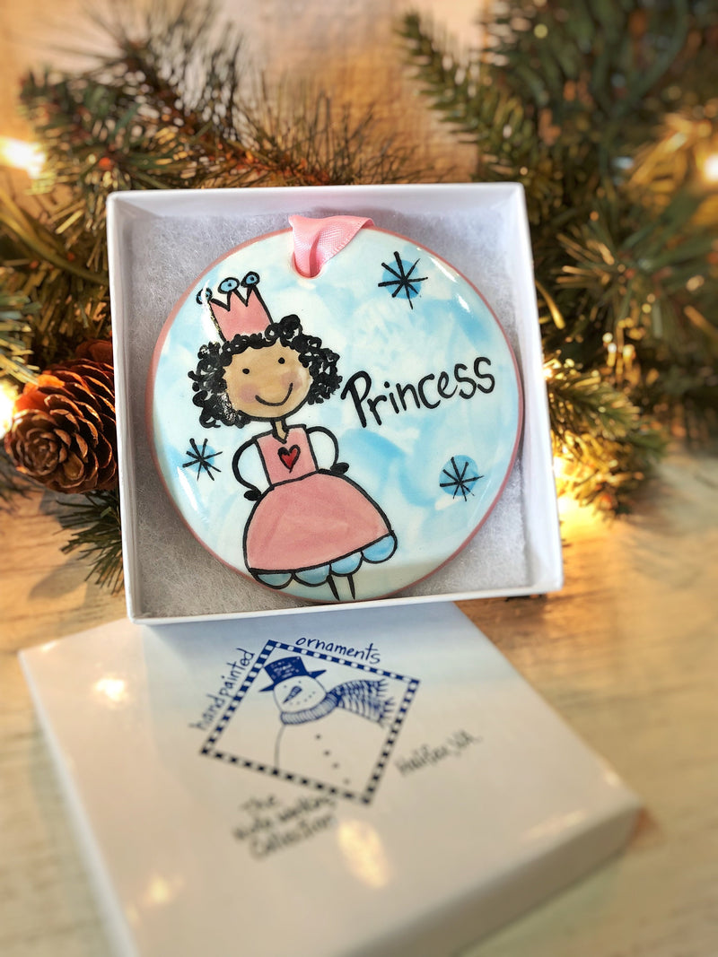 Princess Handpainted Ornament - nolawatkins.com