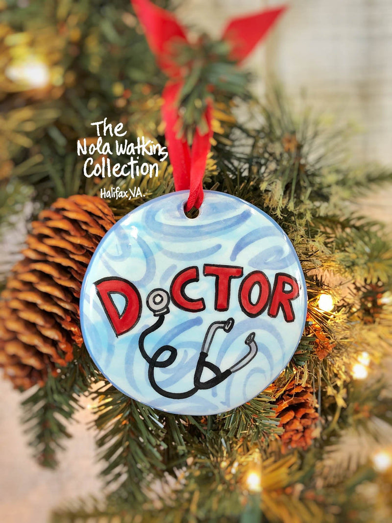 Doctor Handpainted Ornament - nolawatkins.com
