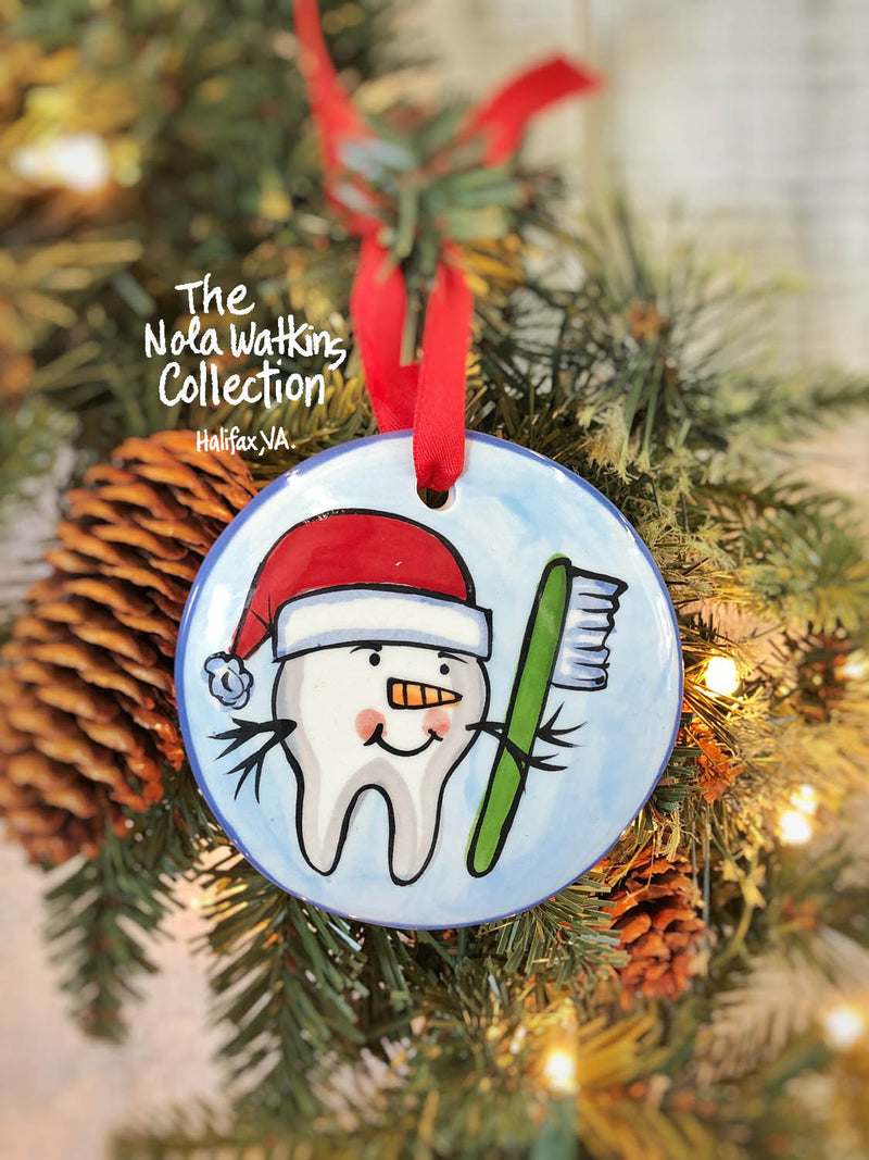 "Dental ""Dentist"" Handpainted Ornament - nolawatkins.com"
