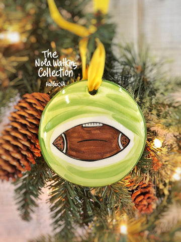 Football Handpainted Ornament - nolawatkins.com