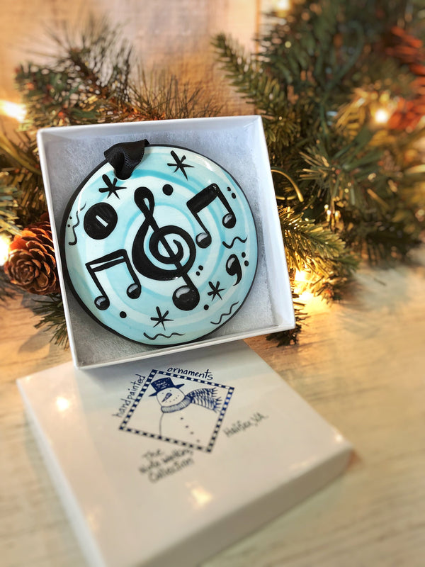 Music Notes New Handpainted Ornament - nolawatkins.com