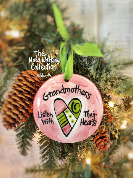 Grandmother Handpainted Ornament - nolawatkins.com