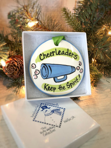 Cheerleaders Handpainted Ornament - nolawatkins.com