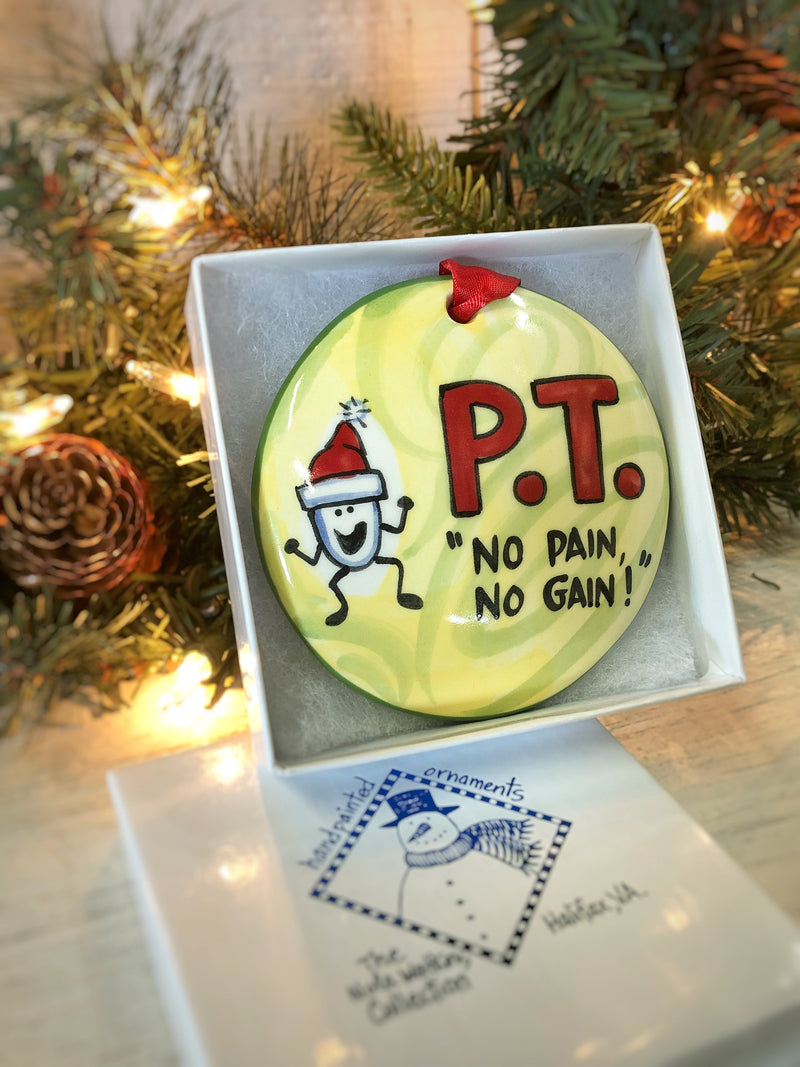 Physical Therapist Handpainted Ornament - nolawatkins.com