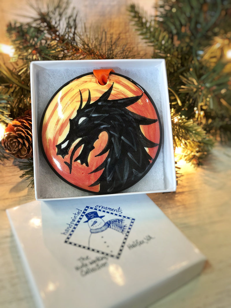 Dragon Handpainted Ornament - nolawatkins.com