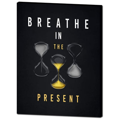 Breathe in the Present Canvas