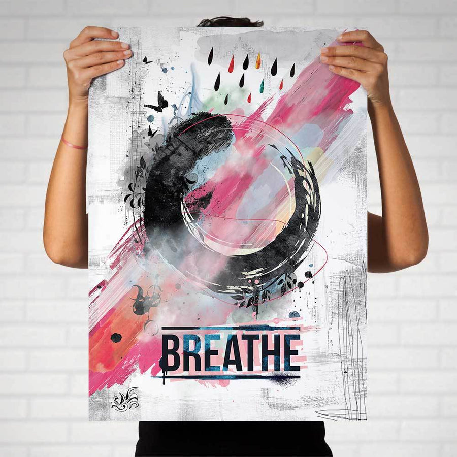 Enso Breathe Art Print