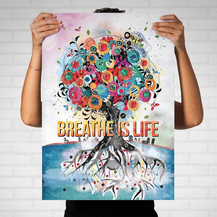 Breathe is Life Art Print