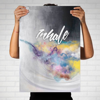 Inhale Art Print