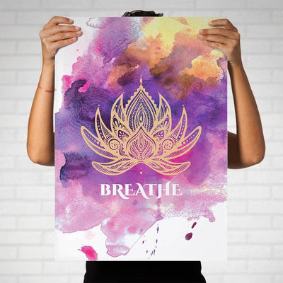 Lotus Mandala Breathe Art Print