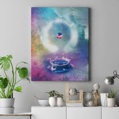 Enso Water Drop Canvas