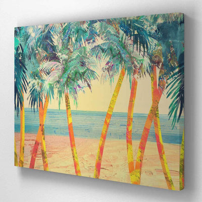 Palm Trees in Beach Canvas