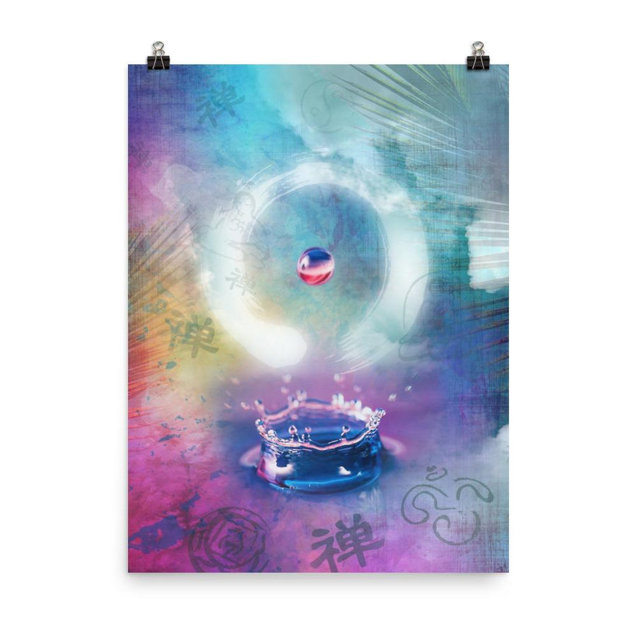 Enso Water Drop Art Print