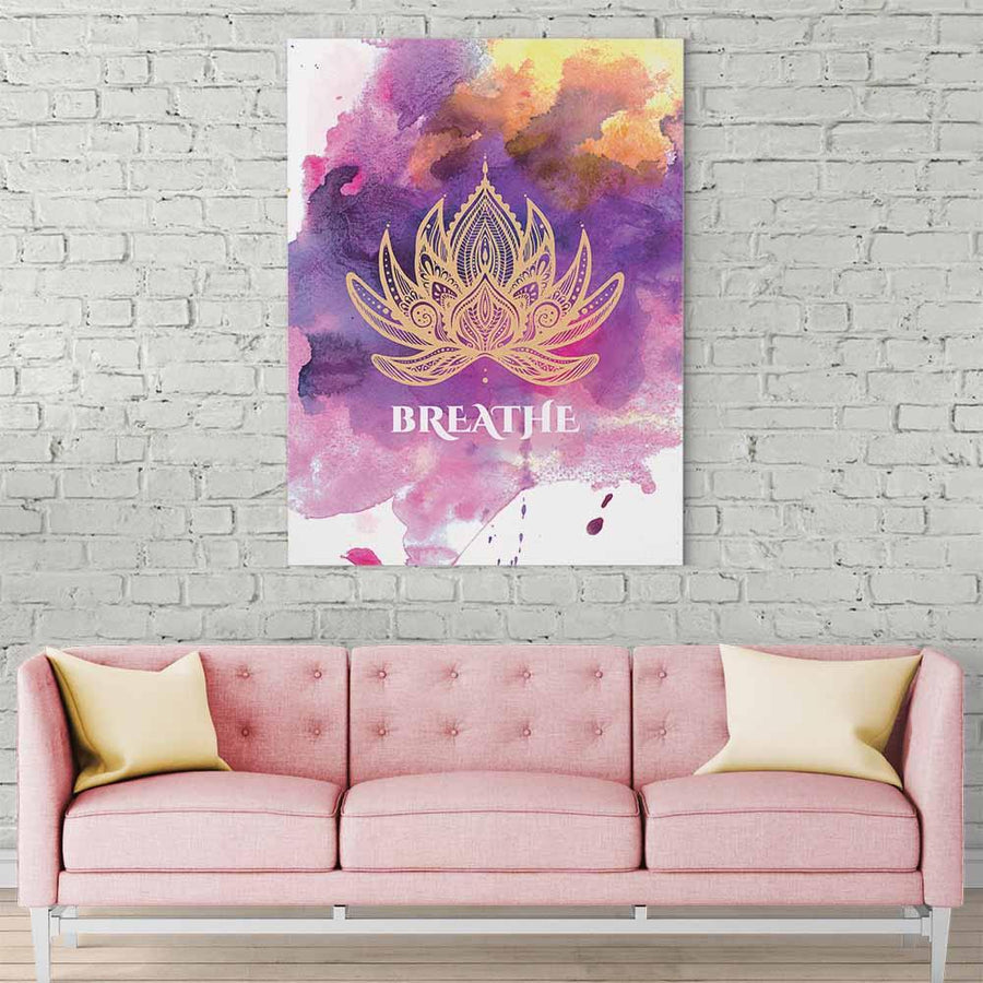 Lotus Mandala Breathe Canvas