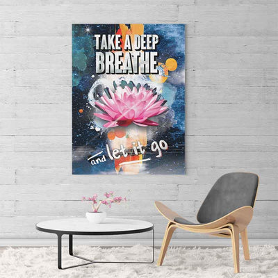 Pink Lotus Breathe Canvas