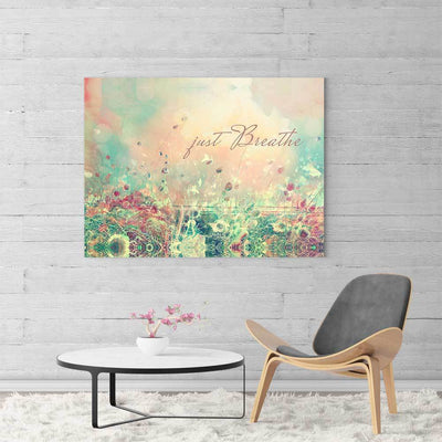 Just Breathe - Flower Field Canvas